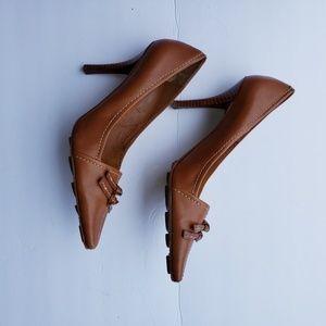 Nine west camel heels 7.5